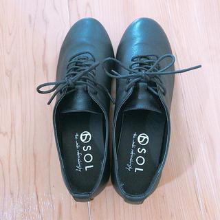 ムジルシリョウヒン(MUJI (無印良品))のレースアップシューズ 革靴 ブラック(ローファー/革靴)