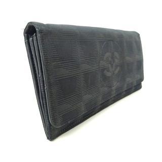 シャネル(CHANEL)のシャネル CHANEL 長財布 ニュートラベルライン 黒 6番台 1128(財布)