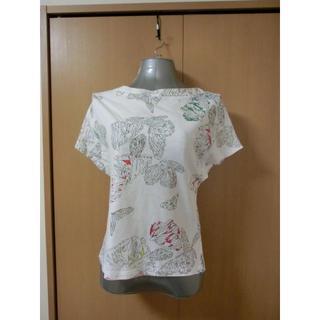 キャシャレル(cacharel)の【cacharel】 バタフライモチーフTシャツ(シャツ/ブラウス(半袖/袖なし))