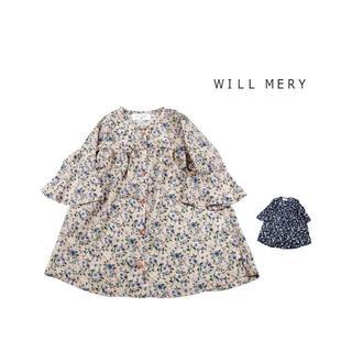 ウィルメリー(WILL MERY)のWILL MERY 小花シフォンのベルスリーブワンピースN26364(ブラウス)
