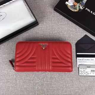 プラダ(PRADA)の新型  プラダ  PRADA  1ML506  レザー 長財布  レッド(財布)
