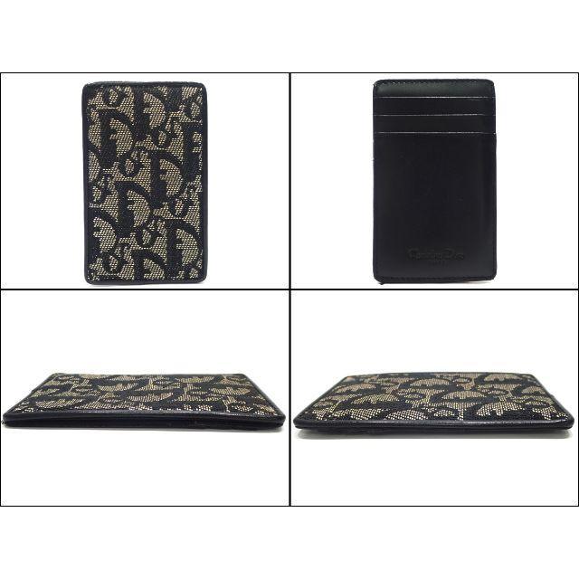 Christian Dior(クリスチャンディオール)のA613 超美品 クリスチャンディオール カードケース 黒 メンズのファッション小物(名刺入れ/定期入れ)の商品写真