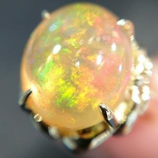 おー様専用です✨K18 オパール リング 18金 4.8ct 誕生石 ゴールド(リング(指輪))