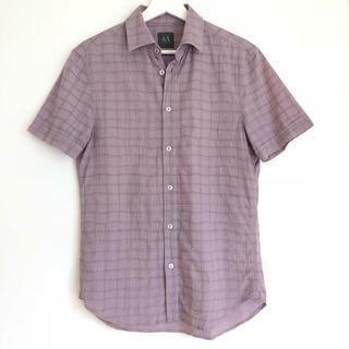 アルマーニエクスチェンジ(ARMANI EXCHANGE)のアルマーニエクスチェンジ パープル 半袖シャツ サイズXS(シャツ)