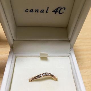 カナルヨンドシー(canal4℃)の【canal4℃ 】リング 11号 ミニー ピンクゴールド シルバー(リング(指輪))