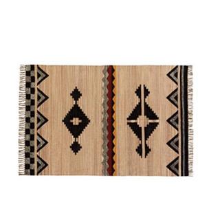 ウニコ(unico)のウニコ unico インディアキリム モチーフブラック100x140(ラグ)