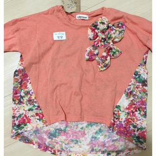 ジェモー(Gemeaux)の新品 ジェモー 花柄半袖カットソー 110(Tシャツ/カットソー)