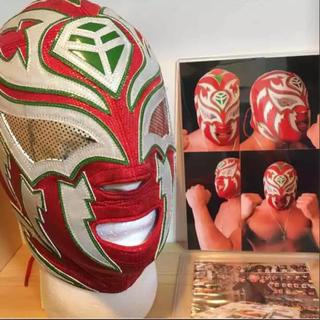 ラ・ソンブラ G1使用 マスク 本人着用&直筆サイン入り&着用写真有り(格闘技/プロレス)