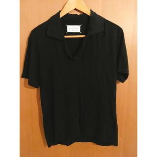 マルタンマルジェラ(Maison Martin Margiela)の【Martin Margiela 10 】スキッパー半袖ポロシャツ48 黒(ポロシャツ)