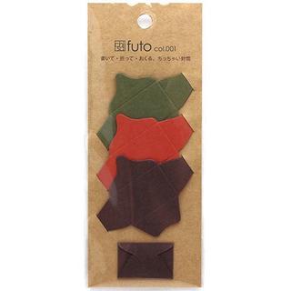 サクラ(SACRA)の♪2袋セット chiisai futo 小さい封筒 2袋X4色で8枚(カード/レター/ラッピング)