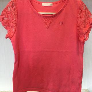 ジーユー(GU)のラインストーン付きティシャツ120センチ(その他)