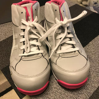 アシックス(asics)のアシックス 安全靴 ウィンジョブ FIS35L ピンク グレー 24.5センチ(その他)