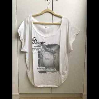 アミウ(AMIW)のAmiw アミウ 購入 Hamiru レーヨン混 デザイン Tシャツ(Tシャツ(半袖/袖なし))