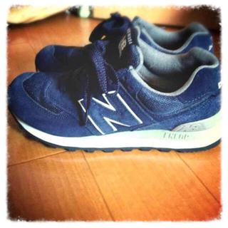 ニューバランス(New Balance)のニューバランス 574ネイビー(スニーカー)