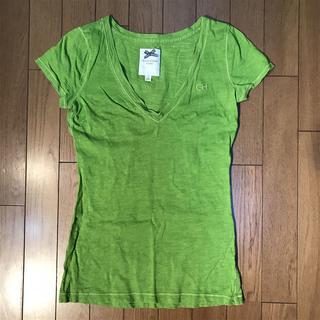 ギリーヒックス(Gilly Hicks)のギリーヒックス★ロゴワンポイント 深いVネックTシャツ(Tシャツ(半袖/袖なし))