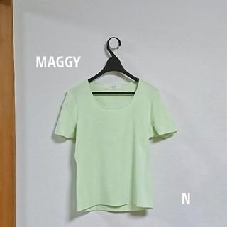 ギンザマギー(銀座マギー)の【新品】MAGGY ストレッチ半袖サマーニット ミント Lサイズ(ニット/セーター)