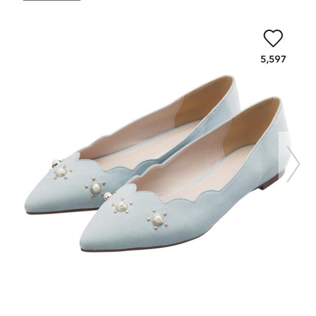 GU(ジーユー)の新品未使用タグ付き GU ジーユー パンプス ブルー レディースの靴/シューズ(ハイヒール/パンプス)の商品写真