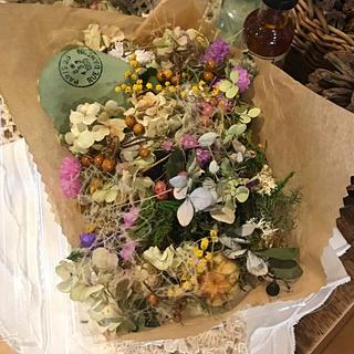 *花材ミックス* ミモザ 紫陽花 スモークツリー ニゲラ ドライフラワー(ドライフラワー)