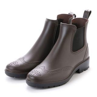 size:M メンズサイドゴアレインシューズ[ブラウン]16033(長靴/レインシューズ)