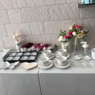 ムジルシリョウヒン(MUJI (無印良品))のポーセラーツ 35点セット 食器 ティッシュケース 白い食器 ガラス 箸置き(食器)