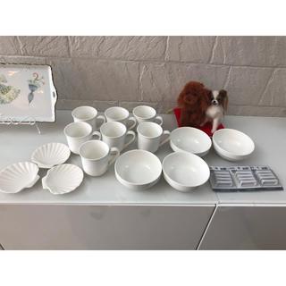 ムジルシリョウヒン(MUJI (無印良品))のポーセラーツ 26点セット 食器 マグカップ白い食器 箸置き(食器)