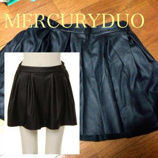 マーキュリーデュオ(MERCURYDUO)のインナーパンツ付きフェイクレザースカート(ミニスカート)