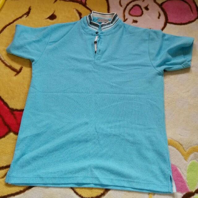 しまむら(シマムラ)の水色ポロ メンズのトップス(ポロシャツ)の商品写真