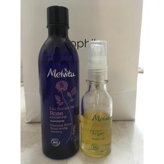 メルヴィータ(Melvita)のメルヴィータ♡アルガンオイル、フラワーウォーターリセットミスト(ブースター/導入液)