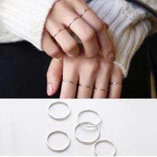 silver925.細め ピンキー リング指輪 1本〜3本セットがお得!シルバー(リング(指輪))