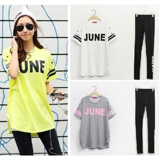 3L 3セット 半袖Tシャツ+レギンス 黄 白 灰 大きいサイズ カジュアル 夏(Tシャツ(半袖/袖なし))