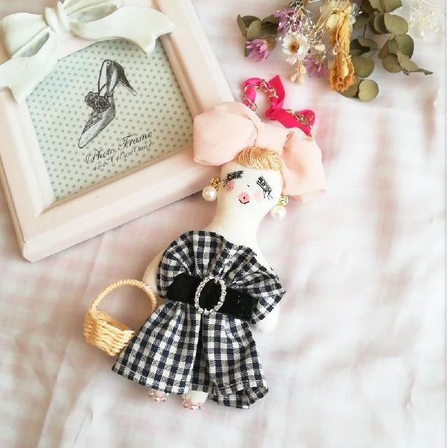 ヒルナンデス ドールチャーム♥️ ハンドメイドのファッション小物(バッグチャーム)の商品写真