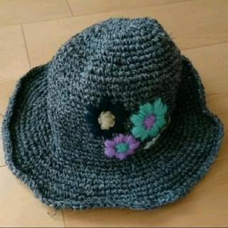 ビーエルユーイー(B.L.U.E.)の最終値下げ価格!花刺繍麦わら帽子*BLUE(麦わら帽子/ストローハット)