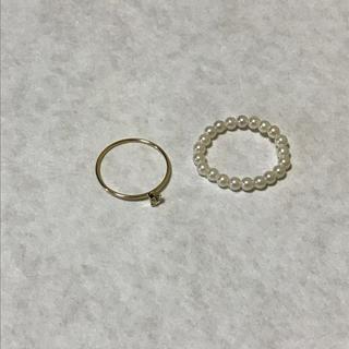 フィービィー(phoebe)のphoebe ピンキーリング 2点セット(リング(指輪))