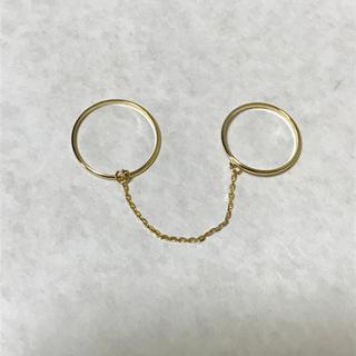 フィービィー(phoebe)のphoebe 2連チェーンリング(リング(指輪))
