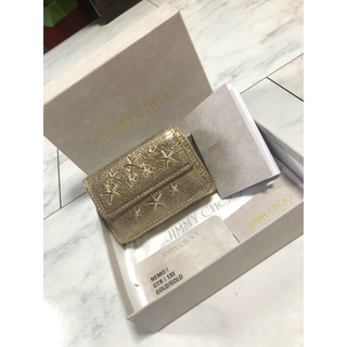 ジミーチュウ(JIMMY CHOO)のNAKO4494様 専用  ゴールド 財布 三つ折り 折財布 ミニウォレット(財布)