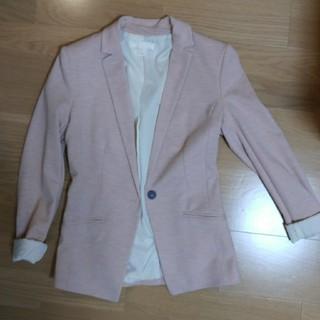 エイチアンドエム(H&M)のH&M ピンク テーラージャケット(テーラードジャケット)
