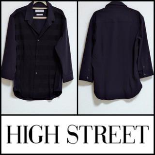 ハイストリート(HIGH STREET)のHIGH STREET*美品 七分袖デザインシャツ(シャツ)