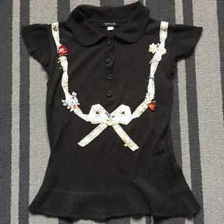 ☆シンシアローリー☆刺繍リボンの半袖ニット・140cm