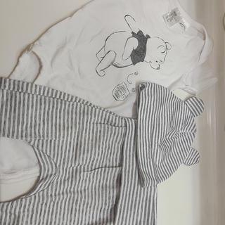 エイチアンドエム(H&M)のプーさん ロンパース ズボン 帽子 3点セット♫(ロンパース)