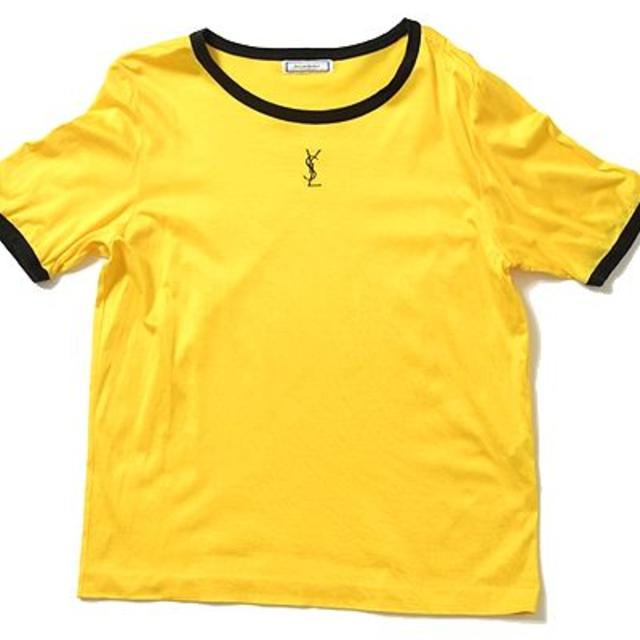 san francisco f4a57 d1654 ◇YSL◇sizeM vintage T-shirts tops/イヴサンローラン ヴィンテージ Tシャツ イエロ | フリマアプリ ラクマ