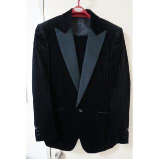 【 HighStreet 】タキシード風ベロアスーツ 本切羽 Sサイズ