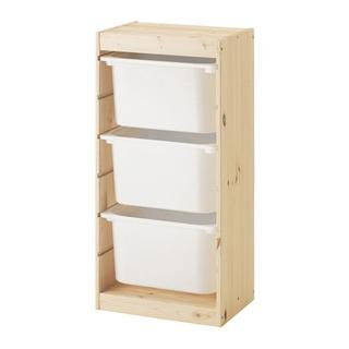イケア(IKEA)の【新品・送料込】IKEA トロファスト パイン材,ボックスMx3(収納/チェスト)