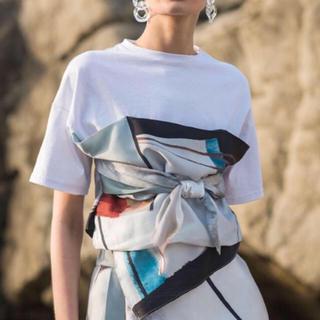 アメリヴィンテージ(Ameri VINTAGE)のAmeri   MEDI DRAWING UNEVEN TEE アメリ (Tシャツ(半袖/袖なし))