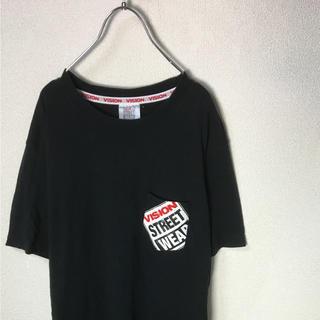 ヴィジョン ストリート ウェア(VISION STREET WEAR)のVISION STREET WEAR ヴィジョン ポケTシャツ ロゴ 黒赤白 L(Tシャツ/カットソー(半袖/袖なし))