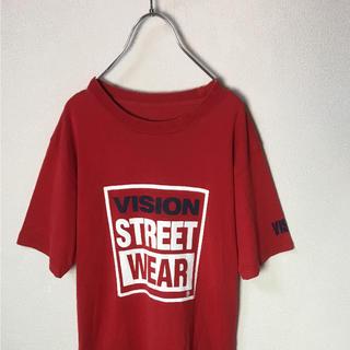 ヴィジョン ストリート ウェア(VISION STREET WEAR)のVISION STREET WEAR ヴィジョン ビッグロゴ Tシャツ 赤紺白(Tシャツ/カットソー(半袖/袖なし))