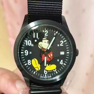 ジャムホームメイドアンドレディメイド(JAM HOME MADE & ready made)の未使用品 jam home made mickey 時計(腕時計(アナログ))