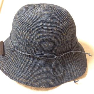 ムジルシリョウヒン(MUJI (無印良品))の美品 無印良品 たためるキャペリンハット ラフィア(麦わら帽子/ストローハット)
