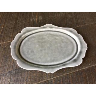 値引可 レア 新品 広瀬佳子 洋皿 L アンティーク 皿 益子焼 カフェ(食器)