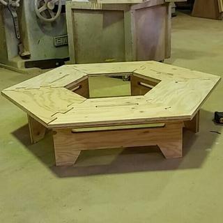 [一点物]ミニヘキサテーブル キャンプギア(アウトドアテーブル)