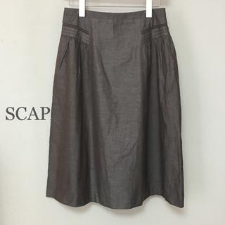 スキャパ(SCAPA)のスキャパ SCAPA スカート サイズ38 綿100%(ひざ丈スカート)